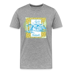 PonyFall blue yellow Thelwell Cartoon - Men's Premium T-Shirt