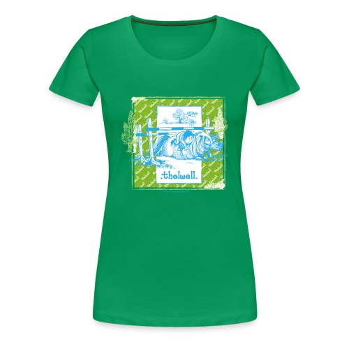 PonyFall blue yellow Thelwell Cartoon - Women's Premium T-Shirt