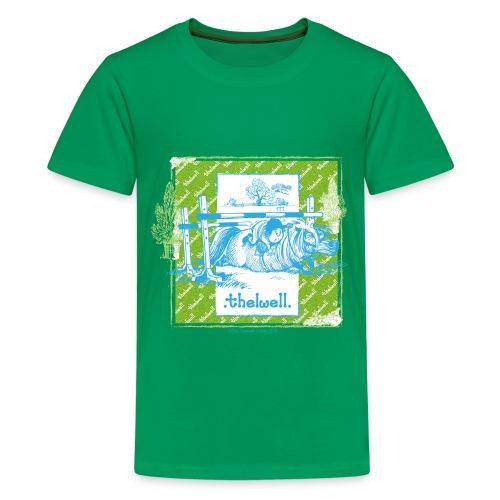 PonyFall blue yellow Thelwell Cartoon - Teenage Premium T-Shirt