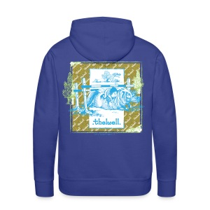 PonyFall blue yellow Thelwell Cartoon - Men's Premium Hoodie