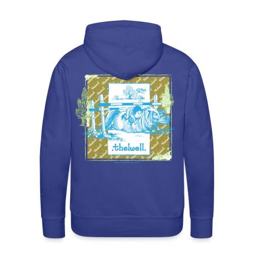 PonyFall blue yellow Thelwell Cartoon - Men's Premium Hoodie