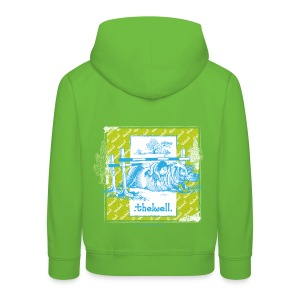PonyFall blue yellow Thelwell Cartoon - Kids' Premium Hoodie