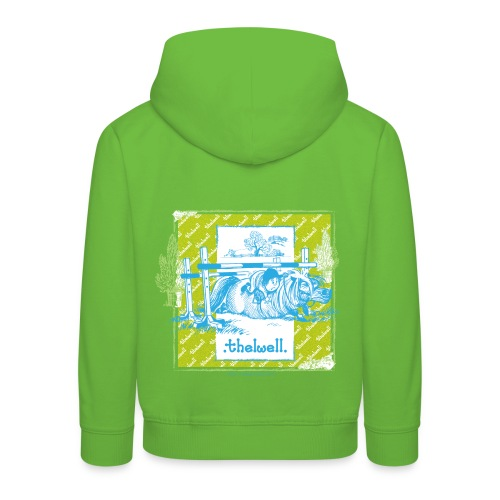 Kinder Premium Hoodie - Lustiger Thelwell Cartoon aus der offiziellen Kollektion 'The Thelwell Estate 2015'