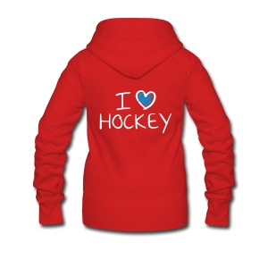 I Love Hockey - Women's Premium Hooded Jacket