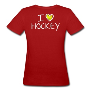 I Love Hockey - Women's Organic T-shirt