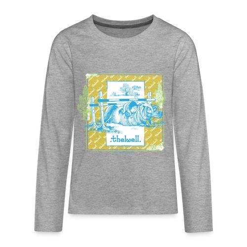 PonyFall blue yellow Thelwell Cartoon - Teenagers' Premium Longsleeve Shirt