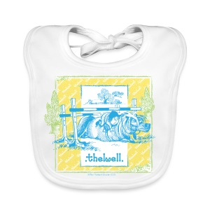 Baby Bio-Lätzchen - Lustiger Thelwell Cartoon aus der offiziellen Kollektion 'The Thelwell Estate 2015'