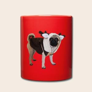 Mops Weihnachtstasse - Tasse einfarbig