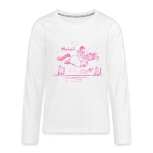 Teenager Premium Langarmshirt - Lustiger Thelwell Cartoon aus der offiziellen Kollektion 'The Thelwell Estate 2015'