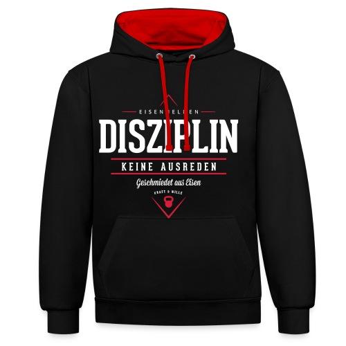 Disziplin - Hoodie - Kontrast-Hoodie