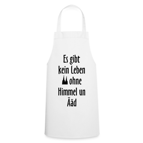 Köln Kochschürze Kein Leben ohne Himmel un Ääd (Weiß/Schwarz) - Kochschürze