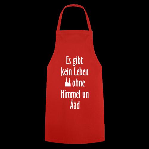 Köln Kochschürze Kein Leben ohne Himmel un Ääd (Rot/Weiß) - Kochschürze