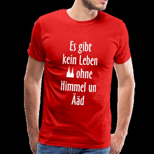 Kein Leben ohne Himmel un Ääd Köln T-Shirt (Herren Rot/Weiß) - Männer Premium T-Shirt
