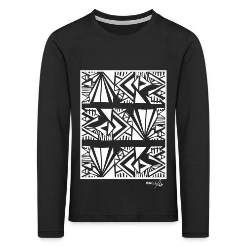 Tribal Aztec print - Kids' Premium Longsleeve Shirt