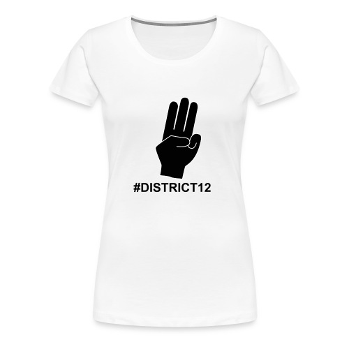 District 12 Rebellion - T-shirt Premium Femme