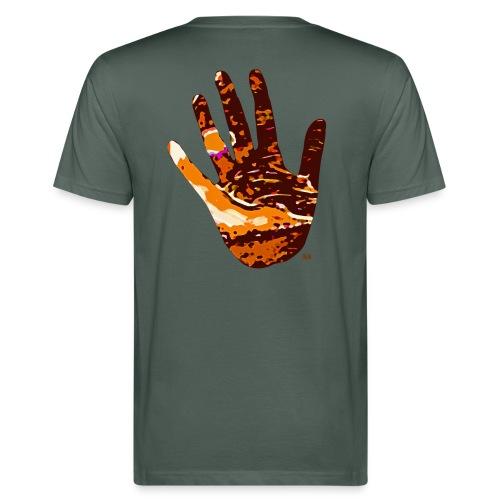 Mulle Vision Hand Up - Männer Bio-T-Shirt