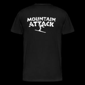 Mountain Attack Ski (Vintage/Weiß) S-5XL T-Shirt - Männer Premium T-Shirt