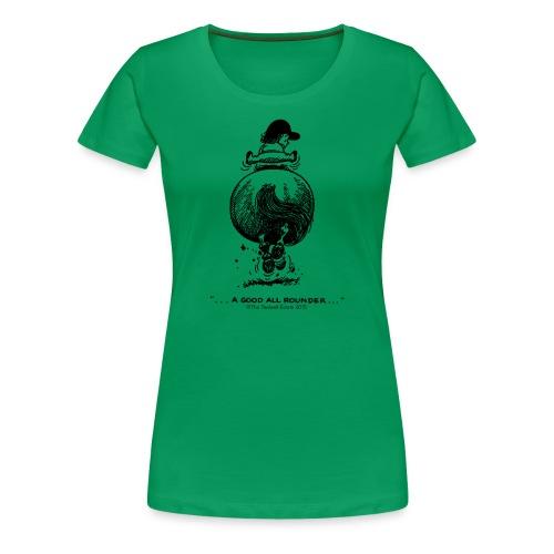 Frauen Premium T-Shirt - Lustiger Thelwell Cartoon aus der offiziellen Kollektion 'The Thelwell Estate 2015'