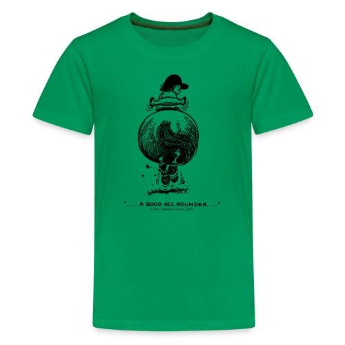Teenager Premium T-Shirt - Lustiger Thelwell Cartoon aus der offiziellen Kollektion 'The Thelwell Estate 2015'