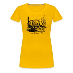 Women's Premium T-Shirt - Funny Thelwell Cartoon from the official collection 'The Thelwell Estate 2015'