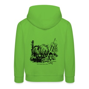 Kids' Premium Hoodie - Funny Thelwell Cartoon from the official collection 'The Thelwell Estate 2015'