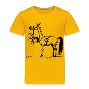 Kinder Premium T-Shirt - Lustiger Thelwell Cartoon aus der offiziellen Kollektion 'The Thelwell Estate 2015'