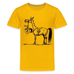 Teenage Premium T-Shirt - Funny Thelwell Cartoon from the official collection 'The Thelwell Estate 2015'