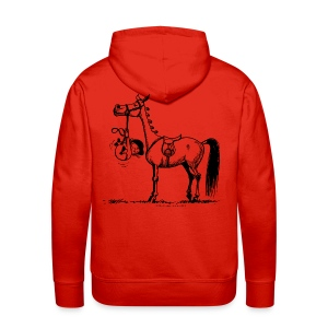 Stubborn Pony Thelwell Cartoon - Men's Premium Hoodie