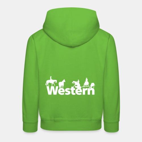 Western Silhouetten Kinder Kapuzenpullover - Kinder Premium Hoodie