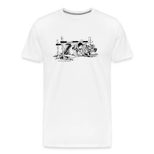 Men's Premium T-Shirt - Funny Thelwell Cartoon from the official collection 'The Thelwell Estate 2015'