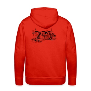 Men's Premium Hoodie - Funny Thelwell Cartoon from the official collection 'The Thelwell Estate 2015'