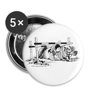 Buttons large 56 mm - Funny Thelwell Cartoon from the official collection 'The Thelwell Estate 2015'