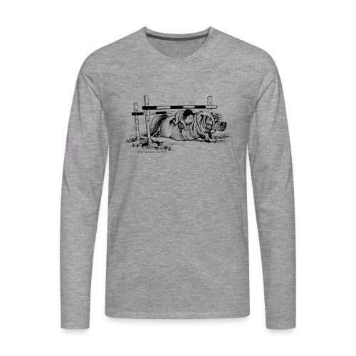 Männer Premium Langarmshirt - Lustiger Thelwell Cartoon aus der offiziellen Kollektion 'The Thelwell Estate 2015'