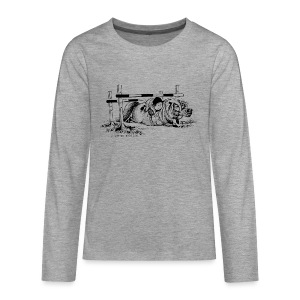 Teenagers' Premium Longsleeve Shirt - Funny Thelwell Cartoon from the official collection 'The Thelwell Estate 2015'