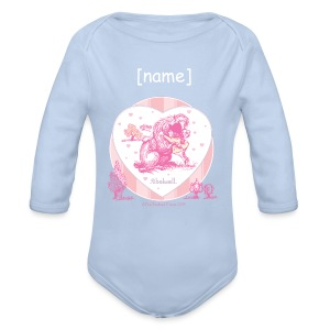 Organic Longsleeve Baby Bodysuit - Funny Thelwell Cartoon from the official collection 'The Thelwell Estate 2015'