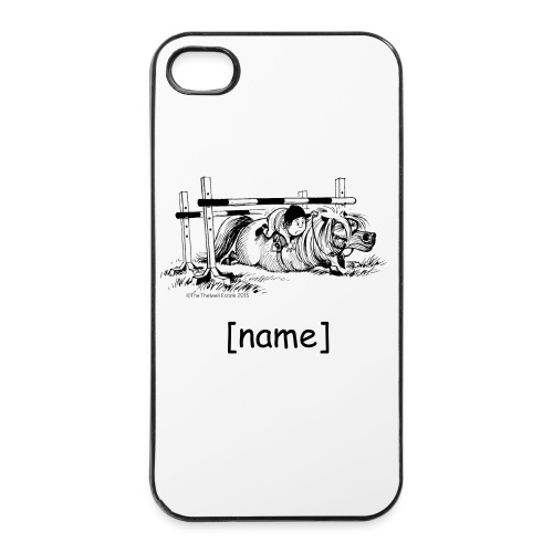 iPhone 4/4s Hard Case - Funny Thelwell Cartoon from the official collection 'The Thelwell Estate 2015'