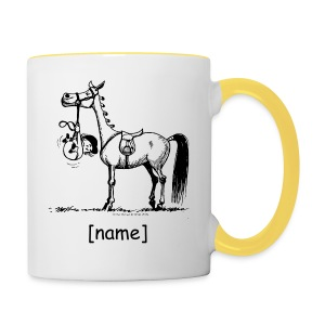 Stubborn Pony Thelwell Cartoon - Contrasting Mug