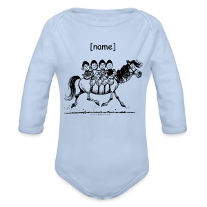 Longlseeve Baby Bodysuit - Funny Thelwell Cartoon from the official collection 'The Thelwell Estate 2015'