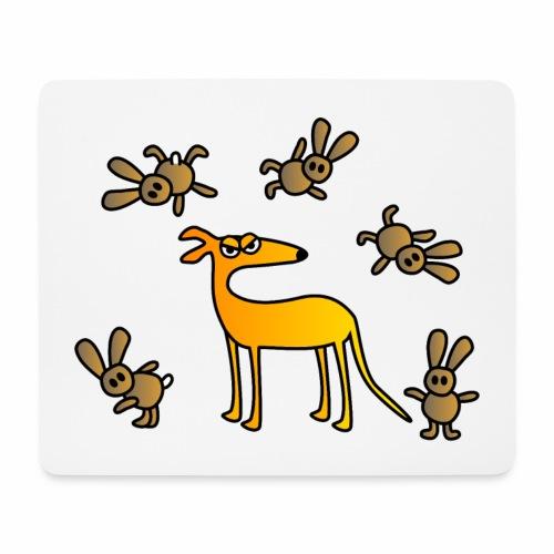 Galgo und Hasen - Mousepad (Querformat)