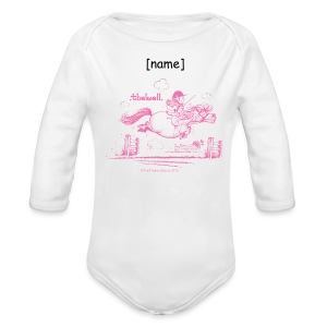 Baby Bio-Langarm-Body - Lustiger Thelwell Cartoon aus der offiziellen Kollektion 'The Thelwell Estate 2015'