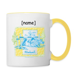 Tasse zweifarbig - Lustiger Thelwell Cartoon aus der offiziellen Kollektion 'The Thelwell Estate 2015'