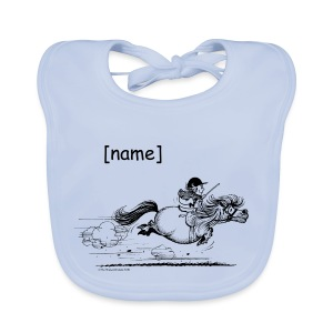 Baby Organic Bib - Funny Thelwell Cartoon from the official collection 'The Thelwell Estate 2015'