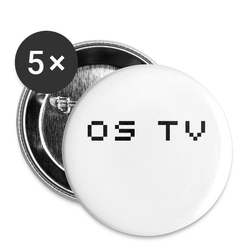 Un badge Os-Tv - Lot de 5 moyens badges (32 mm)