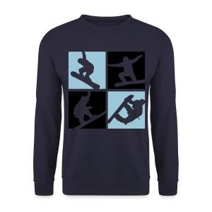 SnowStorm Snowboard 4 square Print sweater - Men's Sweatshirt