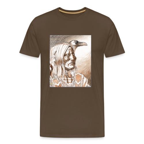Indien Crow - T-shirt Premium Homme