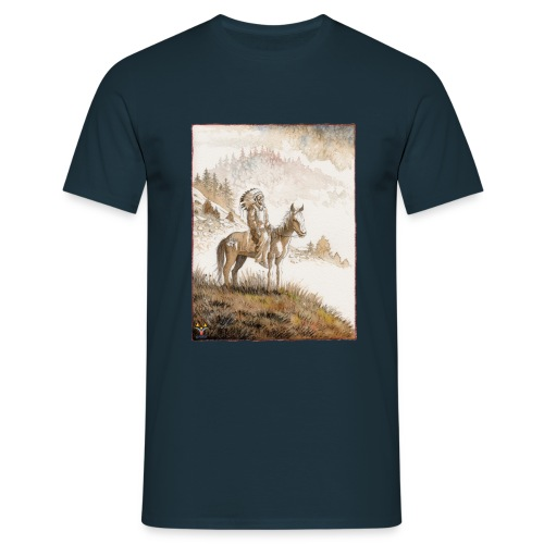 Chef Indien Sioux à cheval - T-shirt Homme
