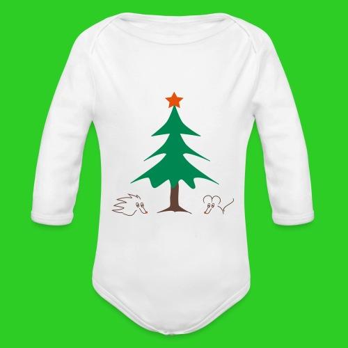 Baby Body longsleeve weiß Weihnachten - Baby Bio-Langarm-Body