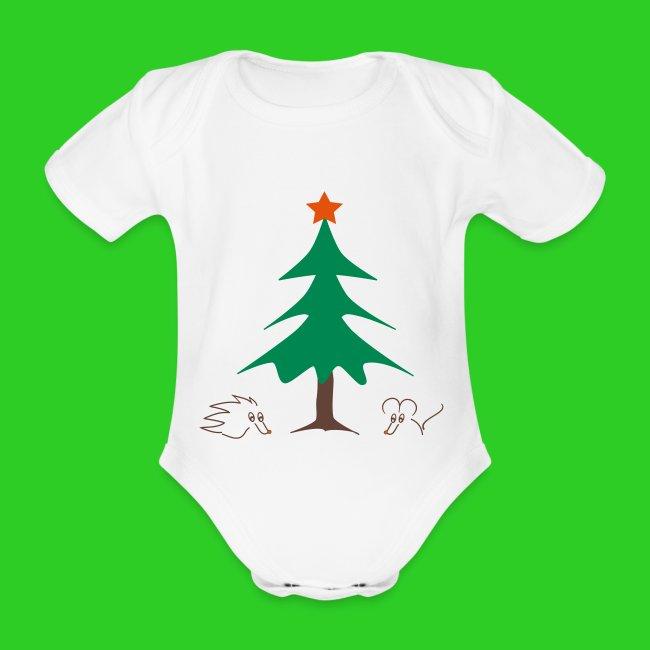 Baby Body weiß Weihnachten