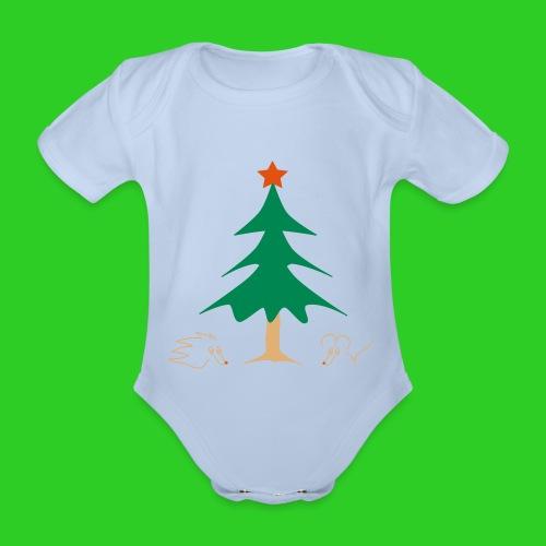 Baby Body rot Weihnachten - Baby Bio-Kurzarm-Body