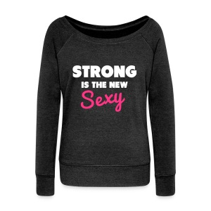 PREMIUM Sweatshirt Strong is the new sexy - Frauen Pullover mit U-Boot-Ausschnitt von Bella